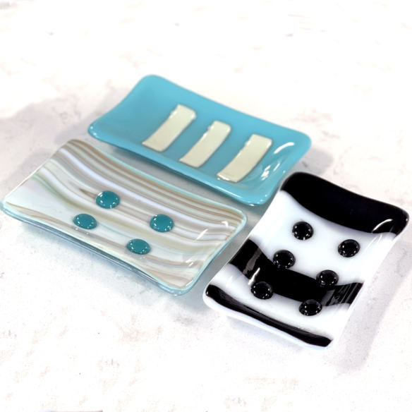 glass fusion soap dishes