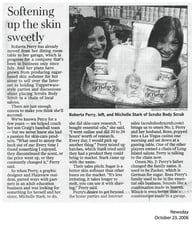 Newsday article with ScrubzBody Roberta Perry and Michelle Tucker