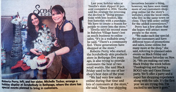 Roberta and Michelle article for Newsday Black Friday and Sales