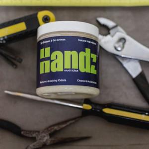 Handz™ hand scrub with shea butter