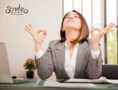 meditating zen at -office - ScrubzBody™