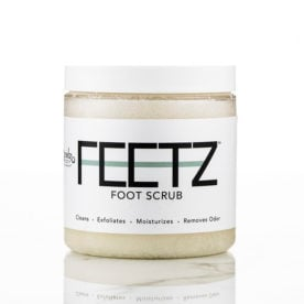 Feetz Foot Scrub with shea butter mint raspberry lemon
