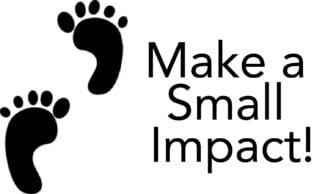 foot print - make a small impact