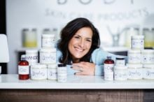 Roberta Perry ScrubzBody with jars on counter