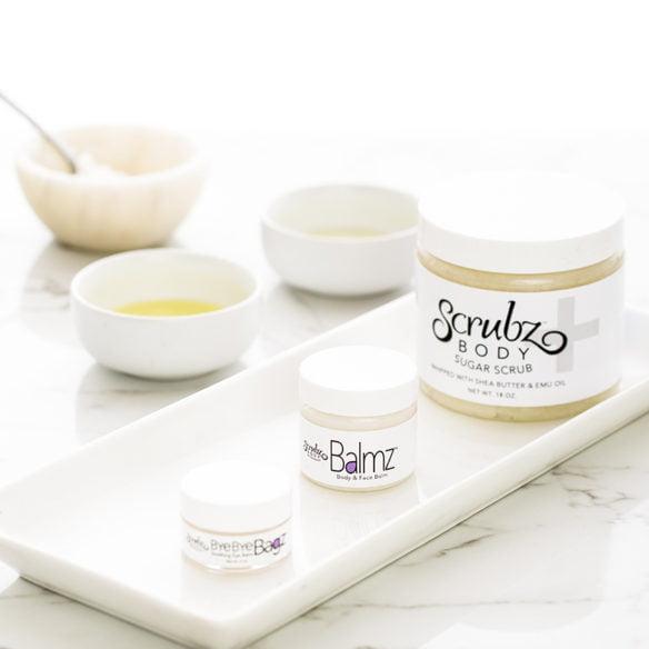 Sensitive skin help with Bye Bye Bagz, Balmz and ScrubzPlus
