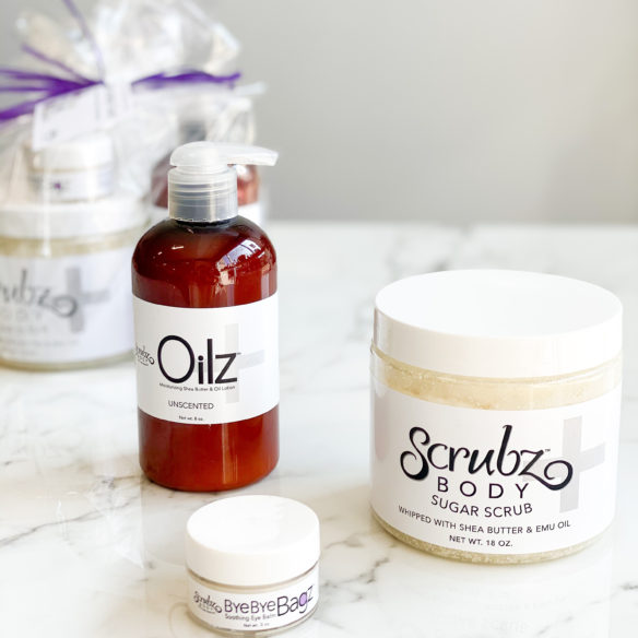 The Sensitive Touch with Scrubz+, Oilz+ Unscented and Bye Bye Bagz