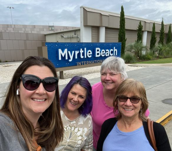 Michelle, Sandy, Laura and Angela at Myrtle Beach